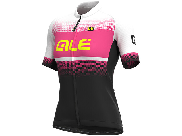 Alé Cycling Solid Blend Maillot Manches courtes Femme, black/fluo pink